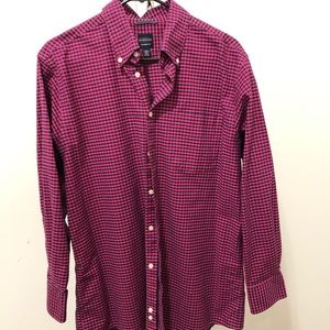 Men's large long sleeve button up